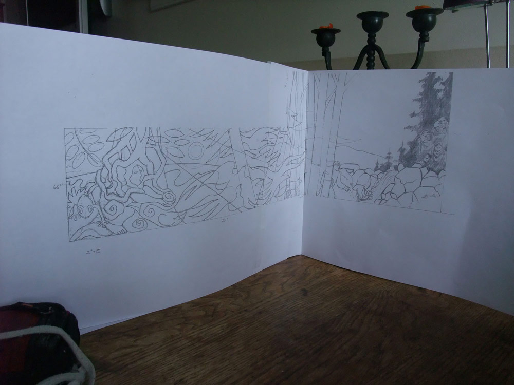 Waiting-Room-Maquette,-folded-corner