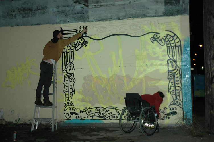 projecting-the-mural
